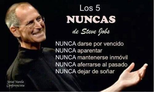 Imagenes Con los 5 nuncas de Steve Jobs Para Reflexionar
