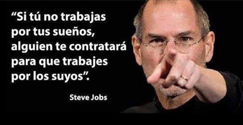 Imagenes con frases de motivacion y superacion de Steve Jobs