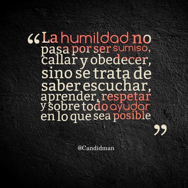 Frases para reflexionar sobre la humildad