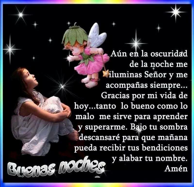 Lindas oraciones a Dios para dar buenas noches