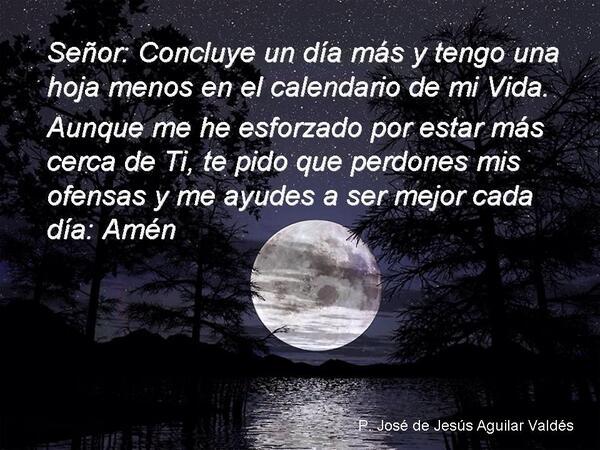Oraciones a Dios Para La Noche