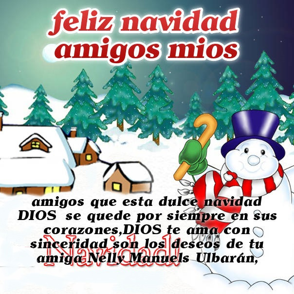 tarjeta-para-felicitar-en-navidad-con-munecos-de-nieve