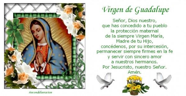 Imagen de La Virgen de Guadalupe Con una Oración para compartir