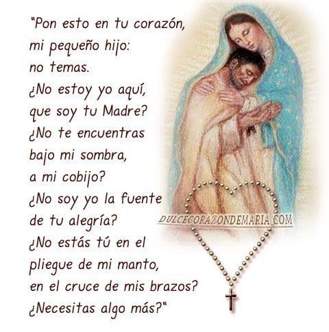 Imagen de la Virgen De Guadalupe Con Oración