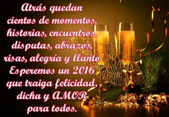 Imagenes con copas y frases para brindar en año nuevo