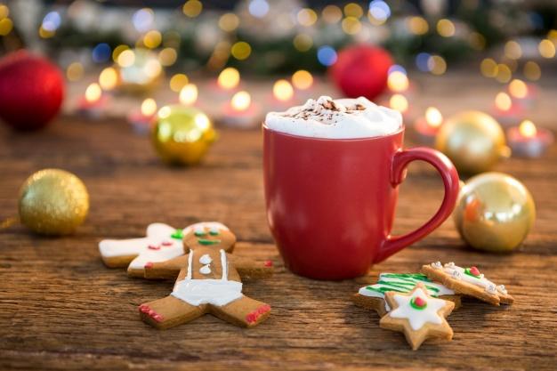 Imagenes navideñas de galletas y tazas de cafe para facebook