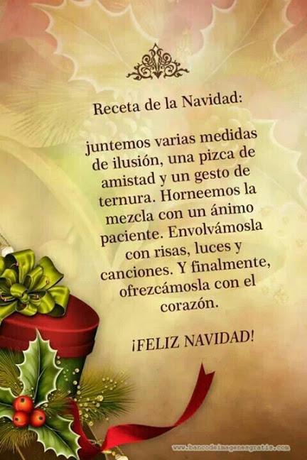 Mensaje receta de navidad para compartir en facebook