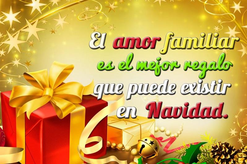 Mensajes de Amor y Unión Familiar en Tarjetas Feliz Navidad