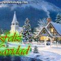 Postales Navideñas Con Paisajes Feliz Navidad