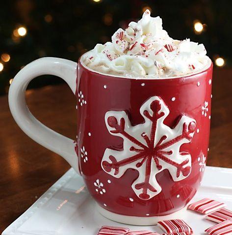 Taza navideña par enviar y desear buenos días