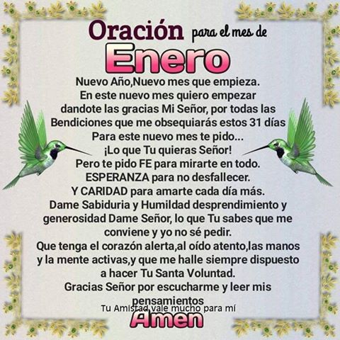 Imagen Con Oración Para El Mes De Enero Para Compartir En Facebook