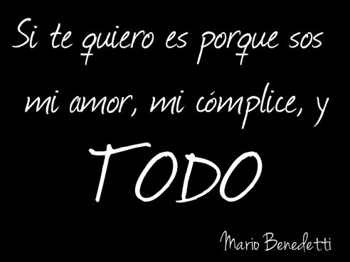 Frases cortas de amor de Mario Benedetti