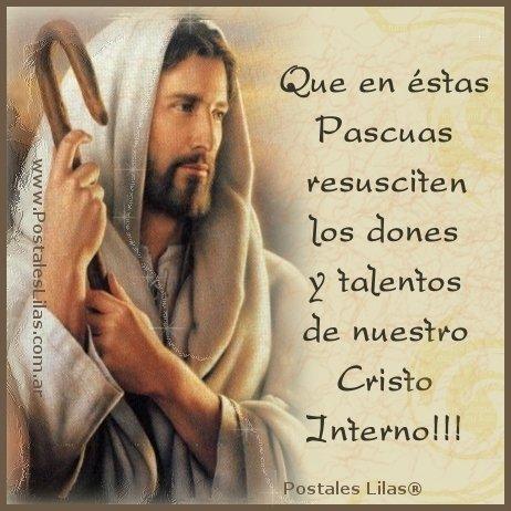 Imagen con mensaje para las pascuas de Resurrección