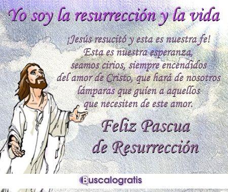 Mensaje Felices Pascuas de Resurrección para Facebook