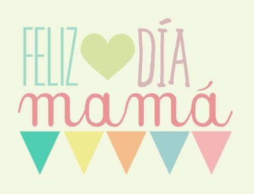 Cartel Feliz Día Mamá