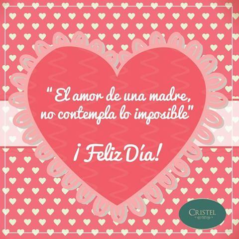 Cartel de Corazones Feliz Día Mamá Para Facebook