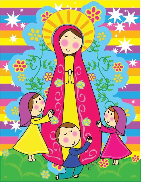 Dibujo de la Virgen de Fatima