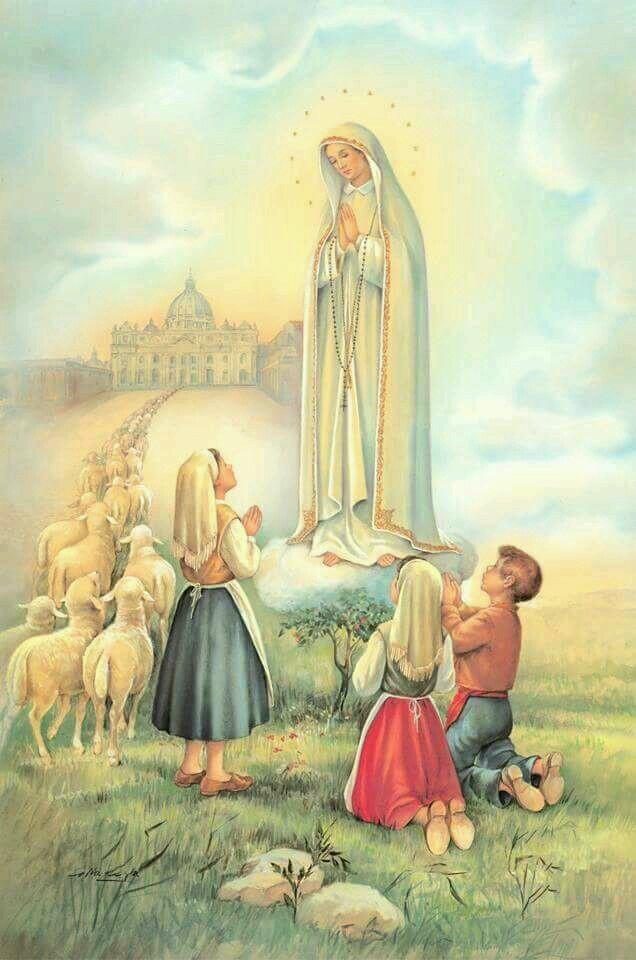 Estampitas de la Virgen de Fatima