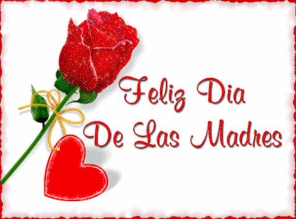 Imagen de una rosa y un corazón Feliz día de las madres