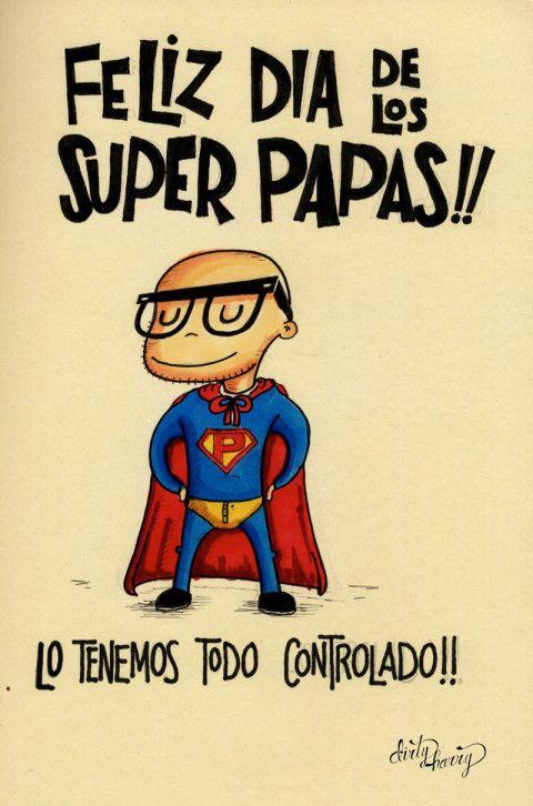 Imagen Con dibujos feliz día de los super papás