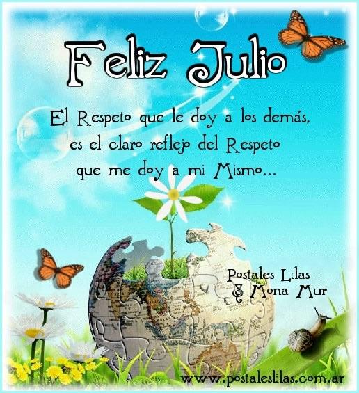Imagenes Feliz Julio, con frases bonitas