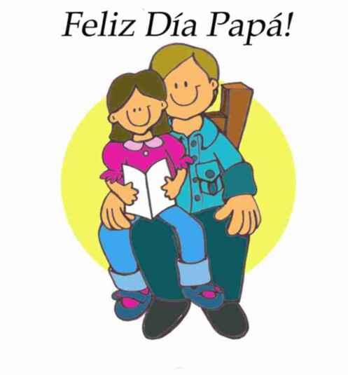 Postal para una niña felicitara papá en su día