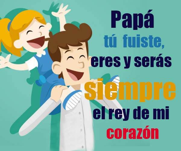 Tarjetas con mensaje de feliz día del padre
