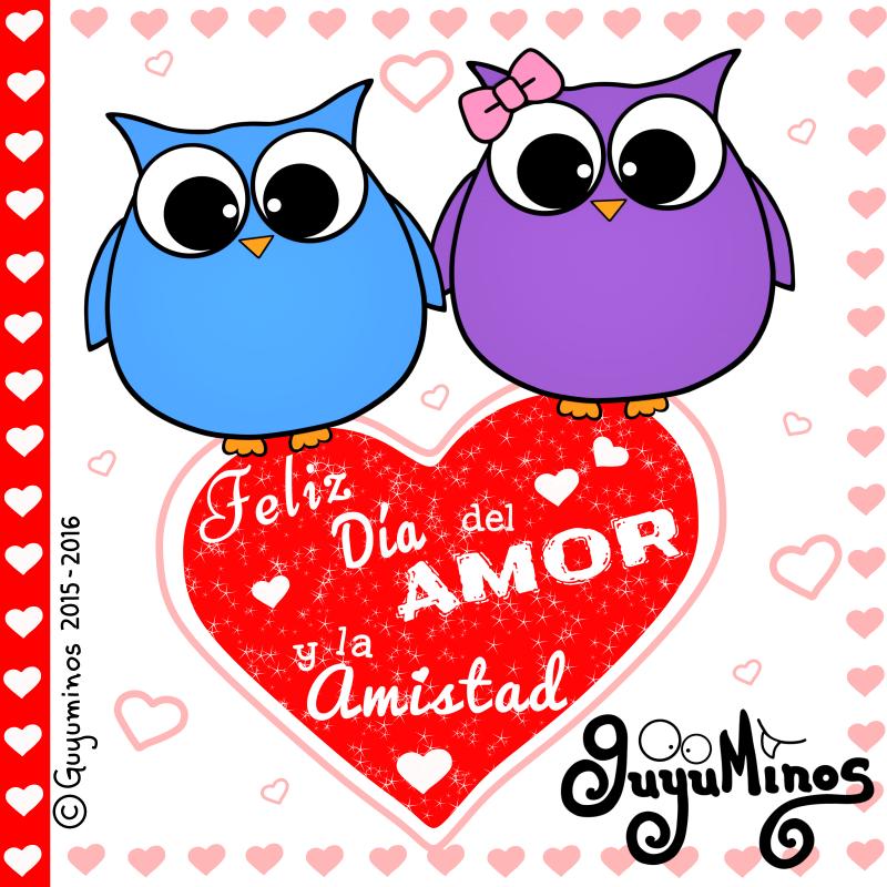 Tarjeta feliz dia del amor y la amistad para regalar por mensaje