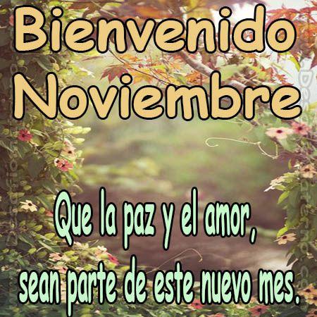 Imagenes con mensajes bienvenido noviembre