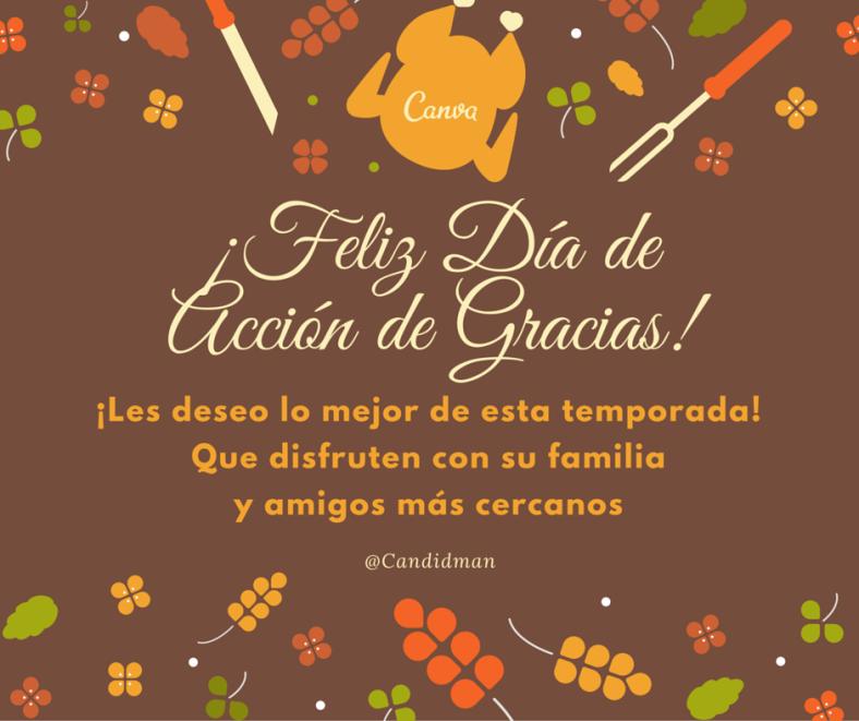 Mensaje para el dia de acción de gracias en imagenes