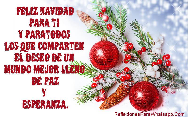 Descargar Imagen Con Mensaje De Feliz Navidad