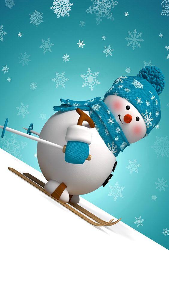 Imagen de fondo muñeco de nieve para fondo de whatsapp