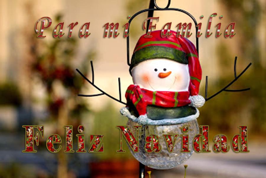 Imagen de navideña para enviar para desear feliz navidad a la familia