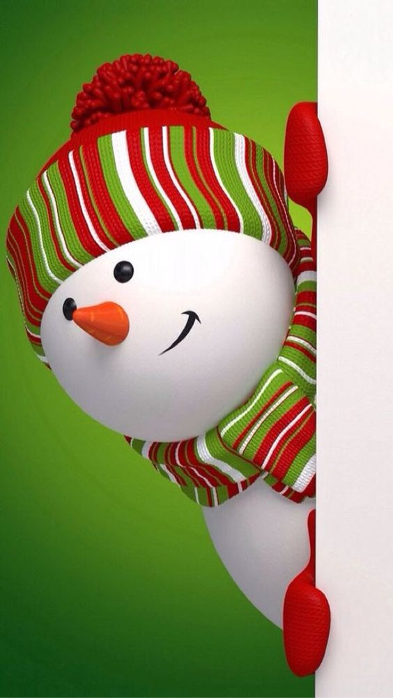Lindo fondo con muñeco de nieve para ponerle al celular
