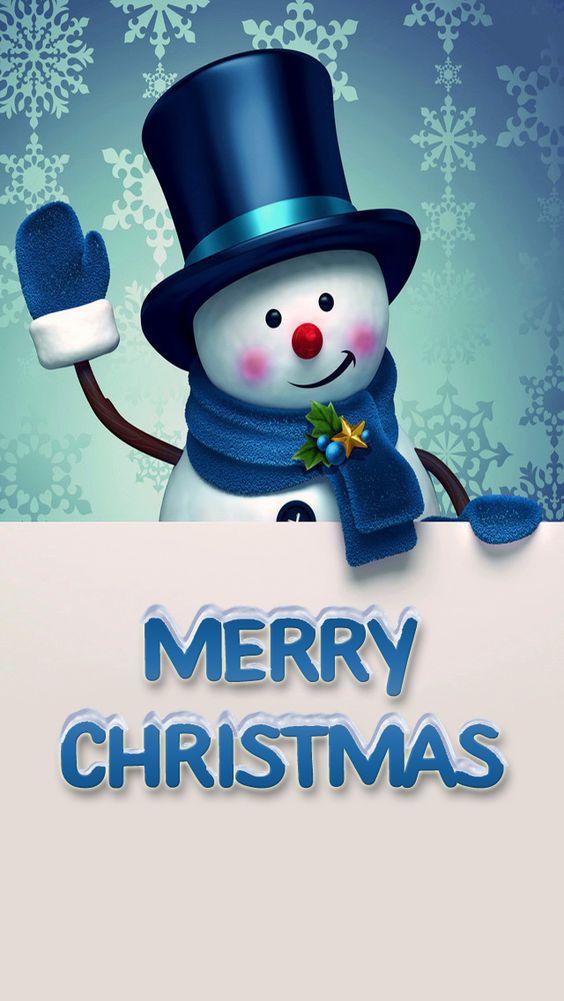 merry Cristmas muñeco de nieve fondo de celular
