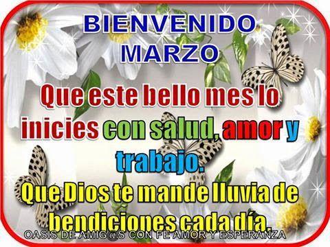 Bienvenido Marzo Imagenes Con Frases
