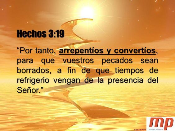 Frase Biblica Sobre El Arrepentimiento Y Conversion