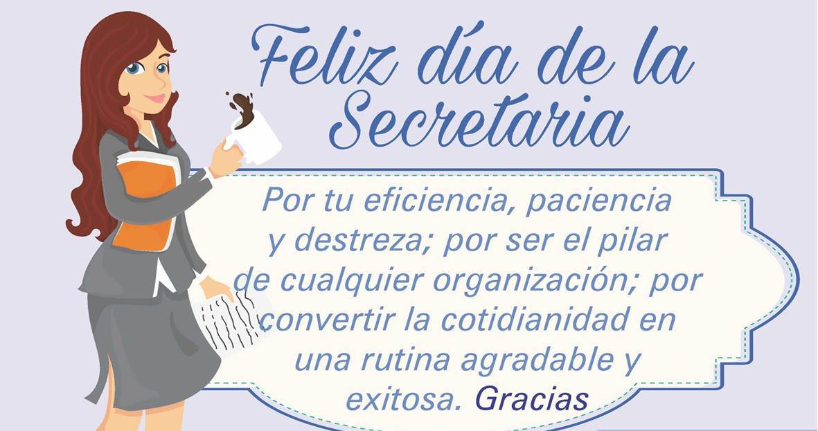 Imagenes Con Frases Para Felicitar a Las Secretarias