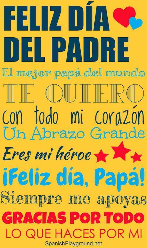 Carteles con frases del dia del padre para regalar a papá