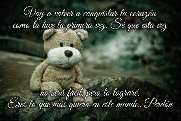 Imagen Tierna con Mensajes Para Pedir Perdon a Mi Amor