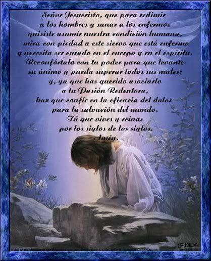 Oracion Pidiendo a Dios Sanar a Los Enfermos En Imagenes Para Enviar y Compartir