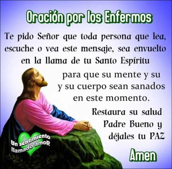 Oracion Por Los Enfermos Imagen Para Compartir