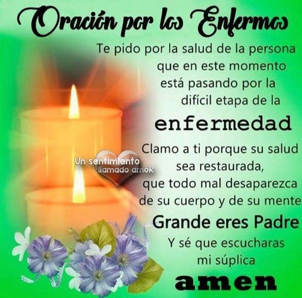 Oracion por los Enfermos en Imagenes Bonitas Para Compartir en Facebook