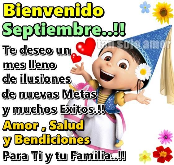 Imagenes Gif con mensaje para enviar Bienvenido Septiembre